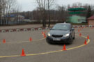 Практические занятия в автошколе Перекресток - вождение автомобиля на автодроме